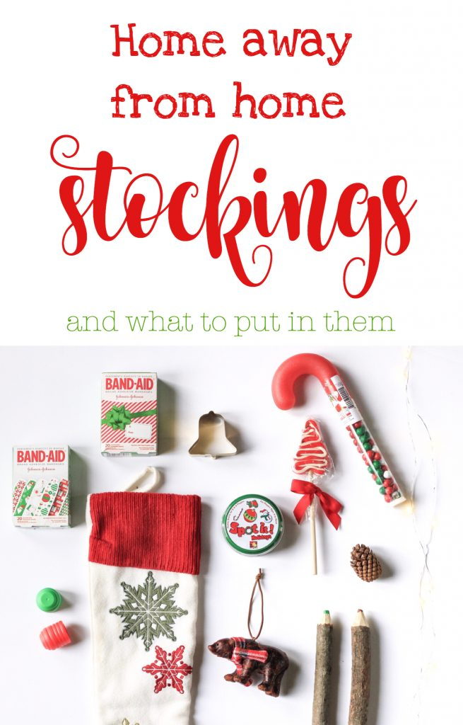 Home away from home stockings what to put in a stocking stocking stuffers Christmas mom blog