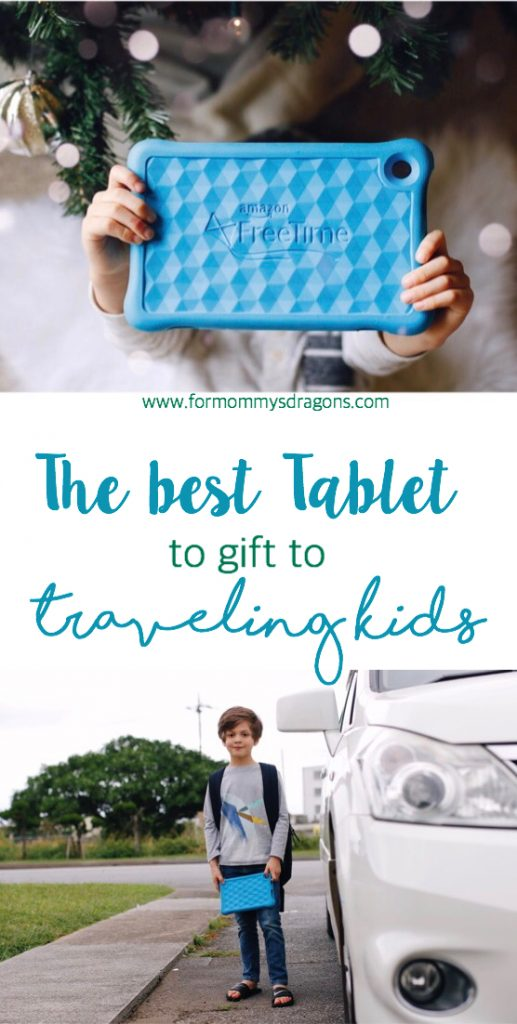 kids tablet Amazon kindle fire traveling kids travel with kids mom blog