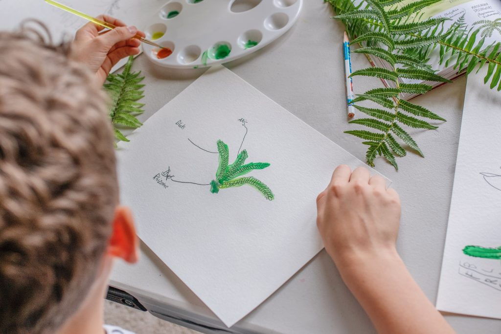 art and nature mom blogger mommy blog homeschooling early learning nature school Virginia influencer