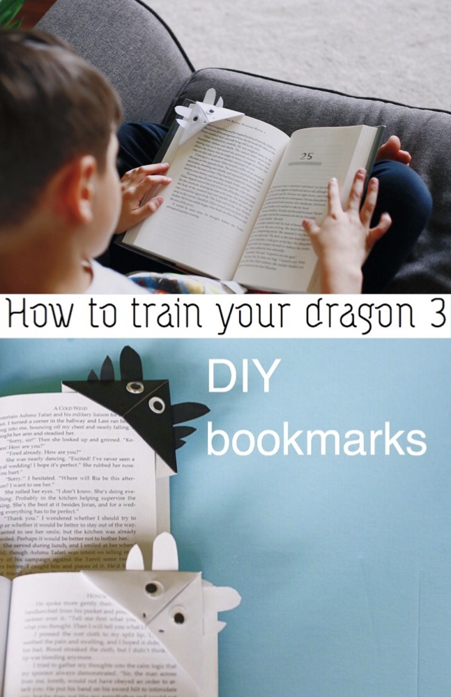 How to train your dragon 3 DIY bookmark