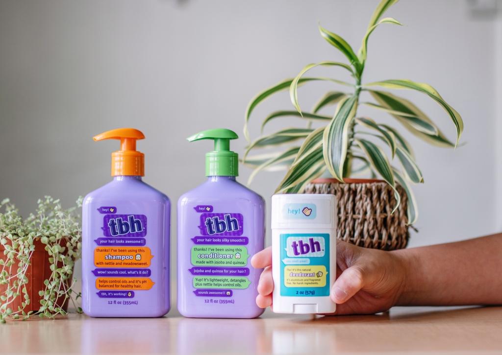kids deodorant, kids shampoo and kids conditioner